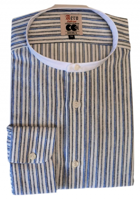 Aero Flannel Cotton CC41 Collarless Shirt