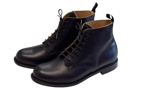 Aero Jarrow Marchers Boots Black Leather Sole