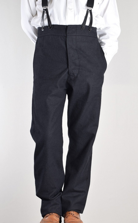 Herringbone Fishtail Back Trousers