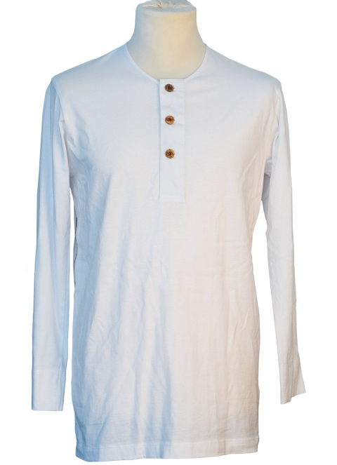 Long-sleeved Henley undershirt