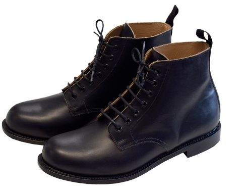 Aero Jarrow Marchers Boots Black Leather Sole