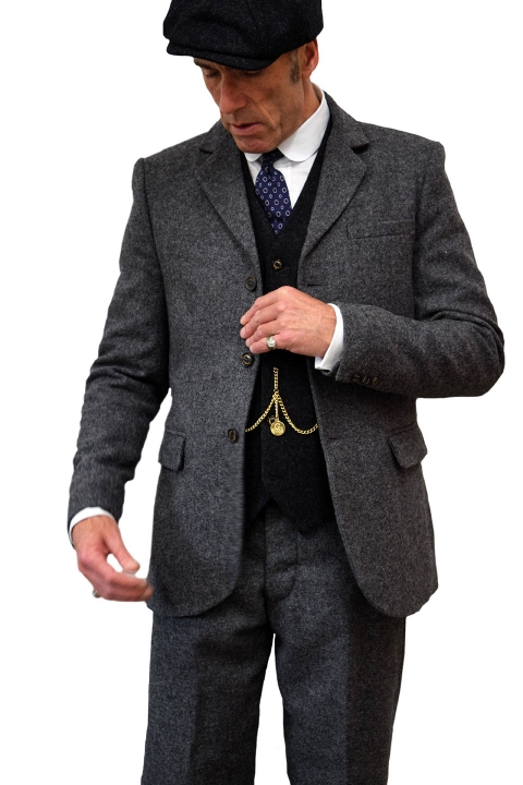 Thomas Grey Tweed Jacket