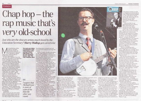 Mr B in the Telegraph