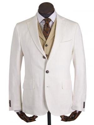 white linen jacket