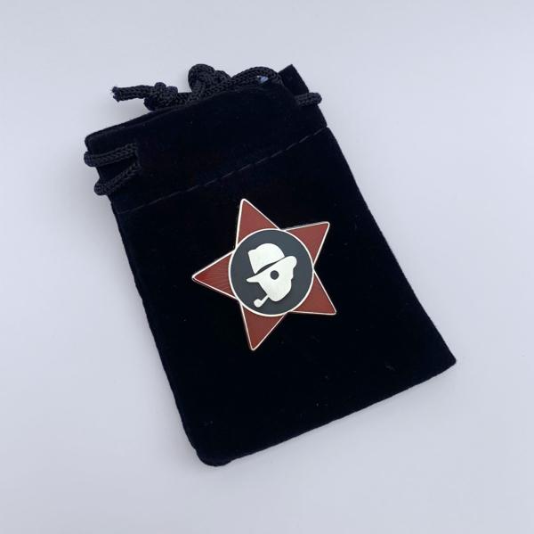 chap lapel badge